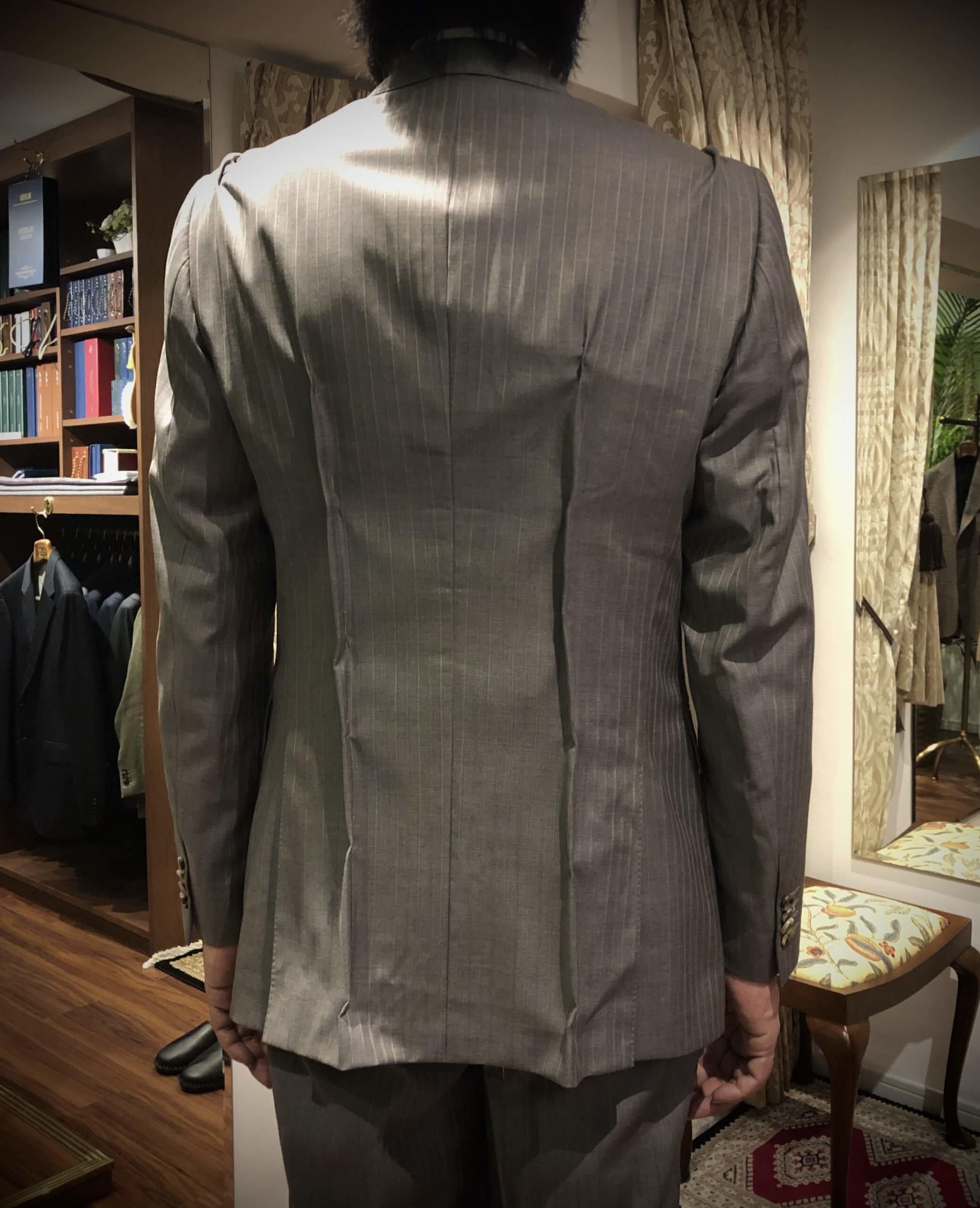 既製の英国ブランドスーツのお直し・大改造